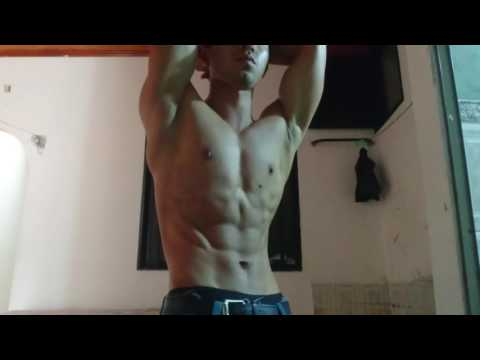 Flexing abs (six Pack)