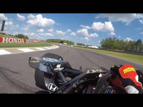 VISOR CAM: Graham Rahal at Barber Motorsports Park