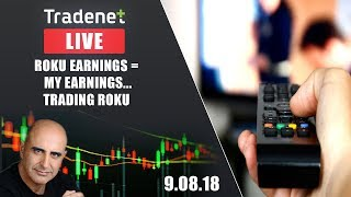 Live Day Trading room streaming - ROKU earnings = My earnings...Trading ROKU