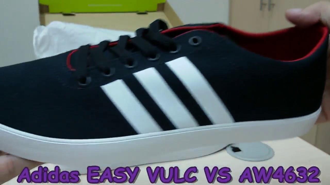 edb195c4cc4 Unboxing Review sneakers Adidas EASY VULC VS AW4632 - YouTube