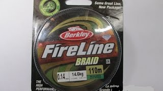 Обзор рыболовного шнура Fire Line BRAID 0.14mm  14.6 kg от Berkley