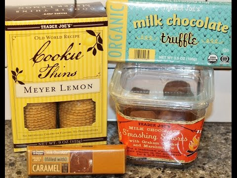 Trader Joe's Milk Chocolate: S'mores, Truffle Bar & Caramel Bar and Meyer Lemon Cookie Thins Review