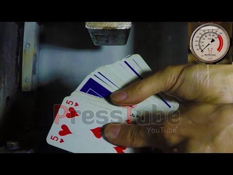Hydraulic Press | Card Deck | Explosion | Pressure Gauge
