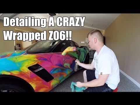 Detailing A CRAZY Wrapped Car!