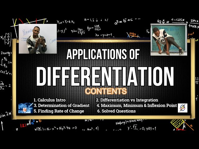 Applications of Differentiation | Explanations & Calculations