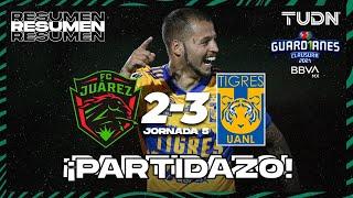 Resumen y goles   FC Juárez 2-3 Tigres   Torneo Guard1anes 2021 BBVA MX - J5   TUDN