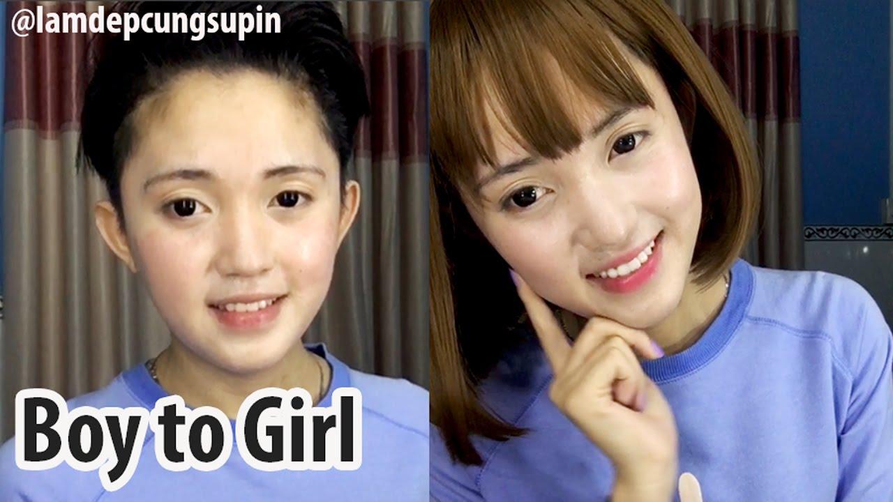 Power Of Makeup Boy To Girl Full Face Short Hair Cute