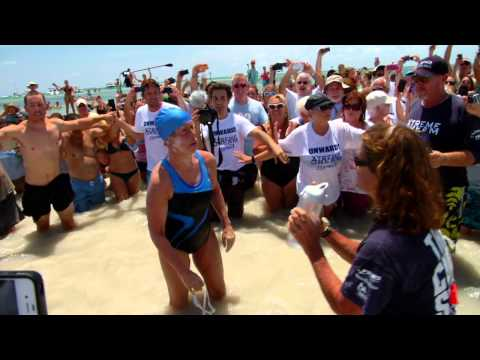 Diana Nyad Arrives in Key West After 111-Mile Swim From Cuba