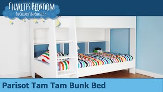 Parisot Tam Tam White Bunk Bed - Charlies Bedroom