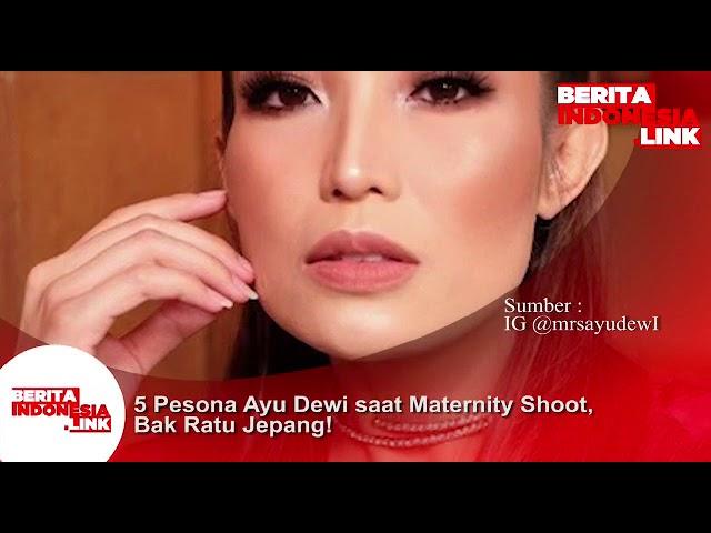 5 Pesona Ayu Dewi saat pose hamil dengan busana Jepang.