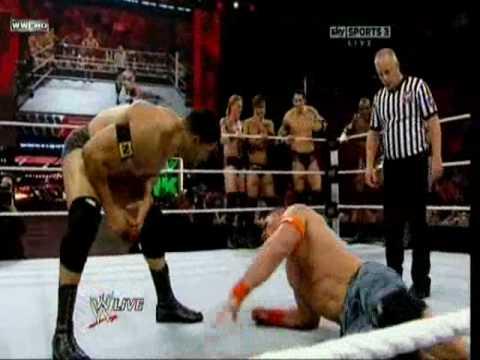 Handicap Match John Cena Vs Nexus Six Vs One.