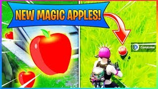 *NEW* Magic Apples Give You HEALTH (HP) CRAZY! (Fortnite Battle Royale)