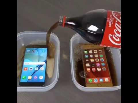 Samsung Galaxy S7 Edge vs. iPhone 6S Plus Coca-Cola Freeze ...