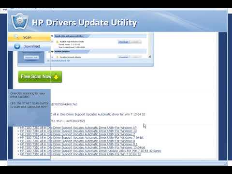 HP 7100 7310 All In One Driver Support Updates Automatic Driver Utility For Win 7 10 64 32