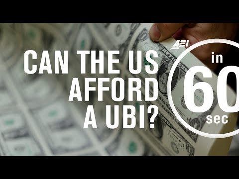 Could the United States afford a universal basic income?...in 60 Seconds