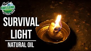 How to make Survival Fire with natural oil | TA Outdoors