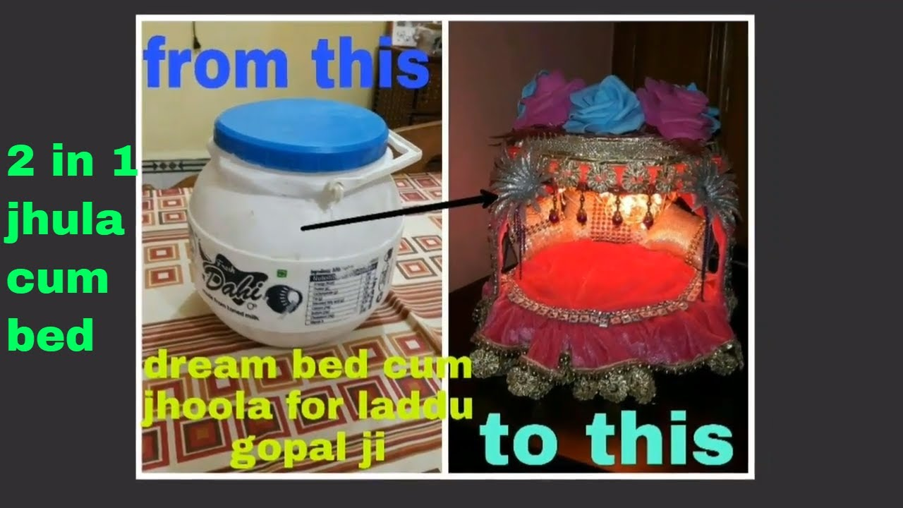 Diy Ideas How To Make Jhula For Bal Gopal At Home Make Bed