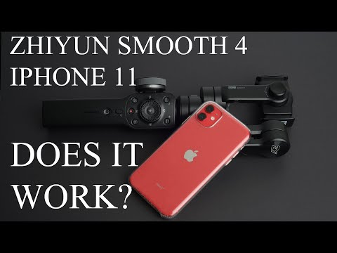 ZHIYUN SMOOTH 4 AND IPHONE 11 does it work?