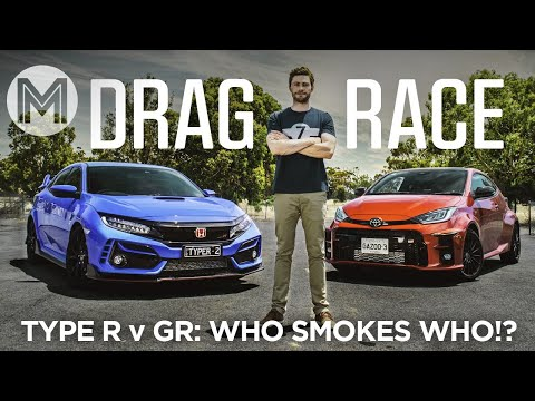 Yaris GR vs Civic Type R: which is faster at the drag strip!?   MOTOR