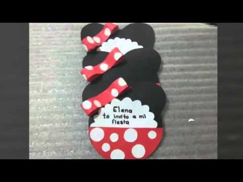 Como Hacer Invitación De Cumpleaños Minnie Youtube