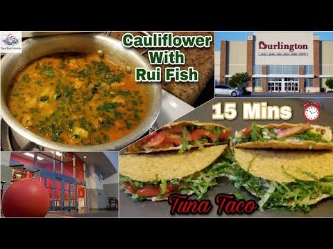 Cauliflower With Fish Curry, Tuna Taco Dinner & Shopping ❤