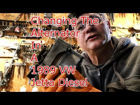 1989 VW Jetta Turbo Diesel changing alternator how to