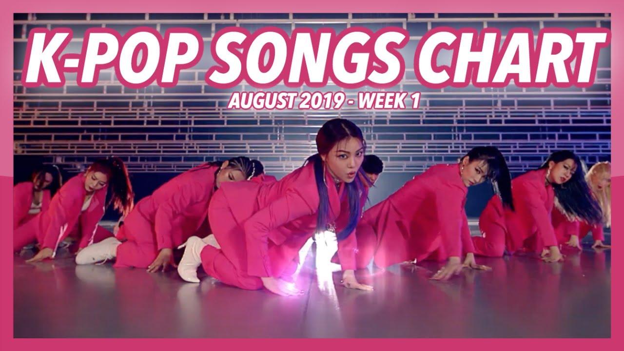 (TOP 100) K-POP SONGS CHART | AUGUST 2019 (WEEK 1)