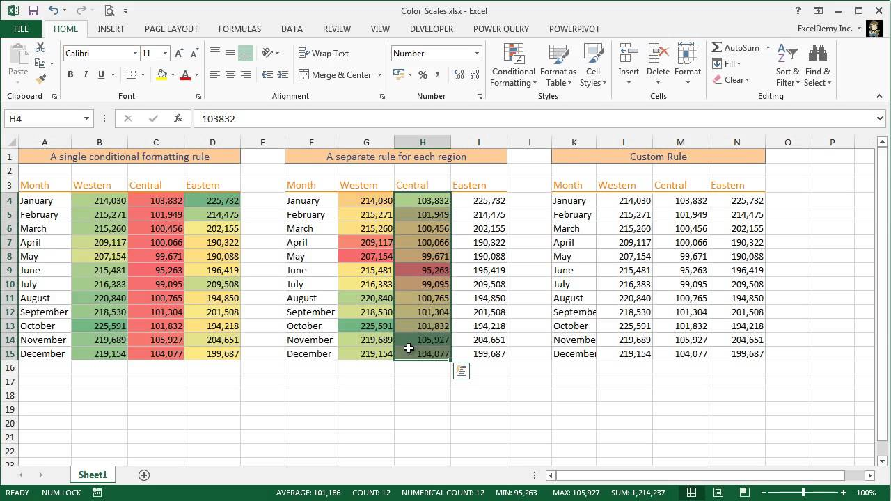 Excel Conditional Formatting Color Scales Youtube Eaglelux 2 Fixed 4way Traffic Signal