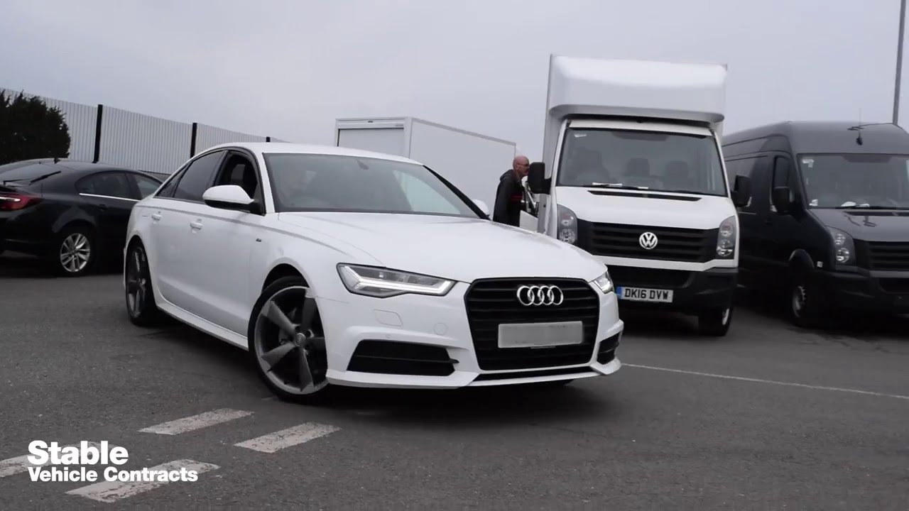 matte black audi a6. 2016 audi a6 sline black edition arrives at stable hq on the back of a trailer youtube matte t