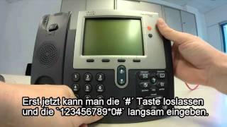 Factory reset Cisco Phone 7942