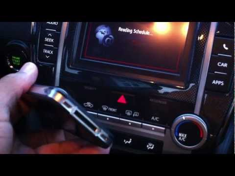 Entune Pandora Radio iPhone 4 with no cable 2012 Camry SE