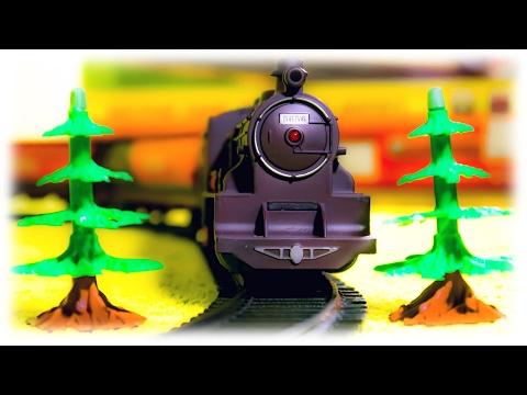 ЕвроЭкспресс 1 Поезд едет Вокруг Новогодней Елки ВИДЕО ДЛЯ ДЕТЕЙ