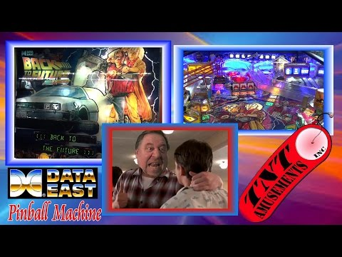 #1127 Data East BACK TO THE FUTURE Pinball Machine & Todd Plays Biff! TNT Amusements