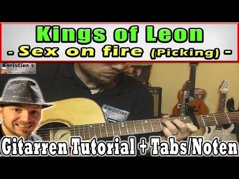 "★Kings of Leon SEX ON FIRE ""Akustische Fingerpicking Version"" Video Tutorial - 동영상"