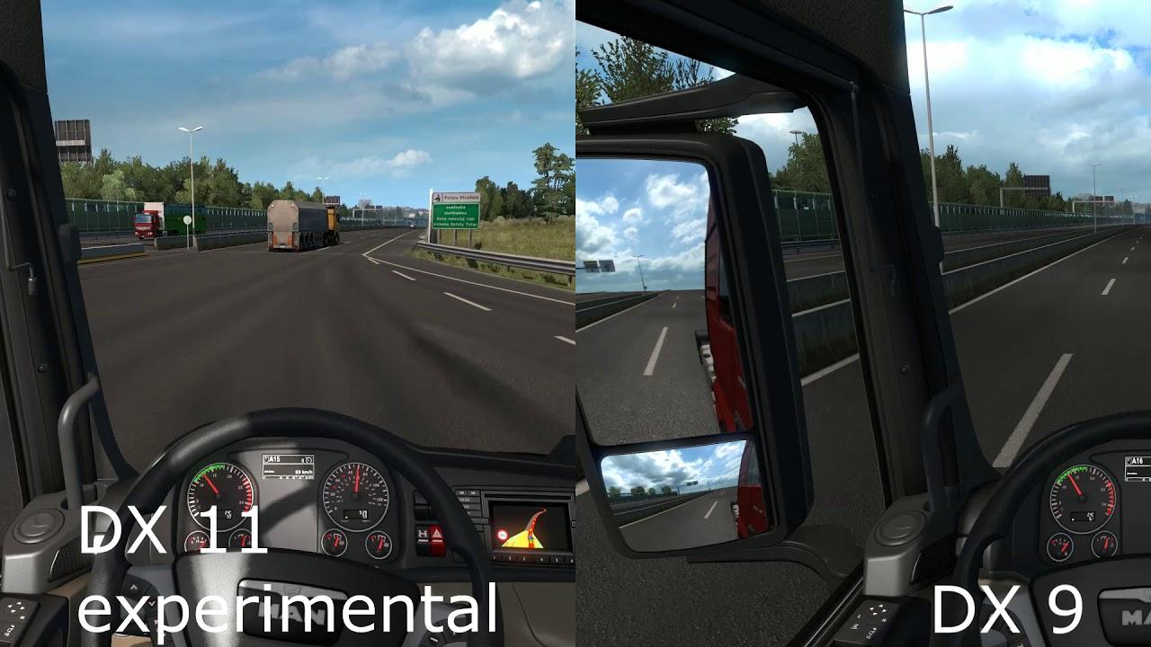 ETS 2 - DirectX Comparison DX 9 - vS - DX 11 experimental