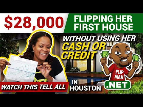 $28,000 Flipping Her First House With No Cash or Credit in Houston | Real Estate Investing Tips