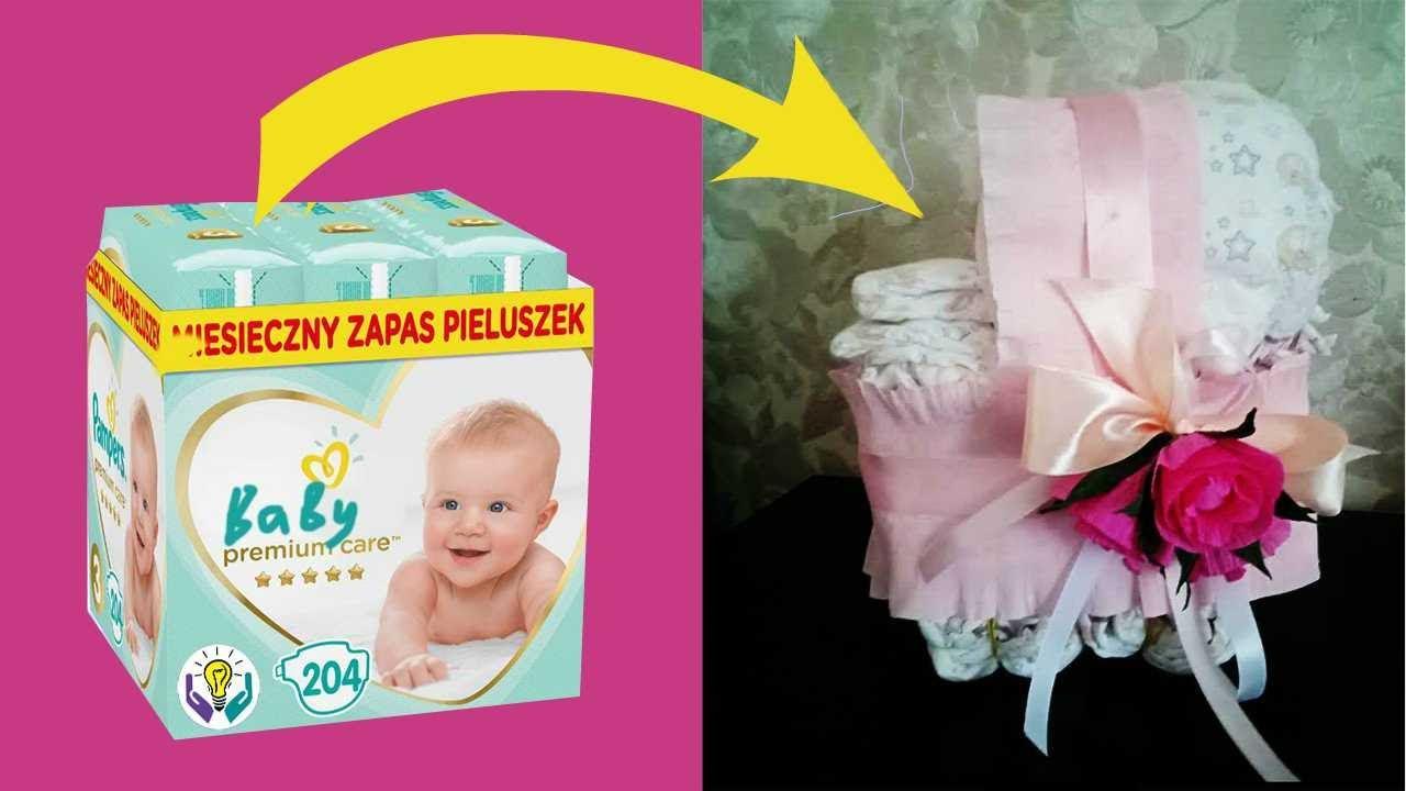 Да, ладно? Вот такой необычный подарок на рождение ребенка.  Как сделать коляску из памперсов.
