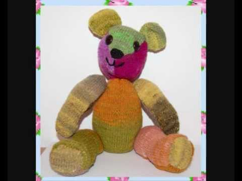 Tristan Vintage Style Ooak Jointed Teddy Bear Knitting Pattern Youtube