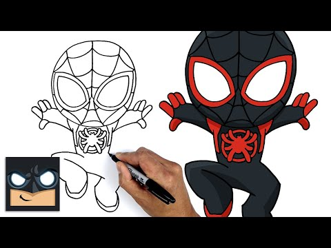 How To Draw Miles Morales   Spider-Man