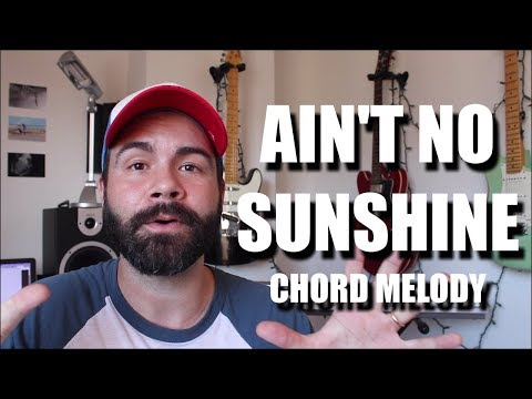Ain't No Sunshine Chord Melody Ukulele Tutorial - Bill Withers