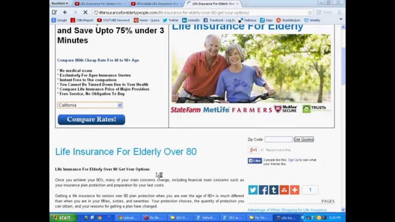 Life insurance for seniors over 80 years old age youtube