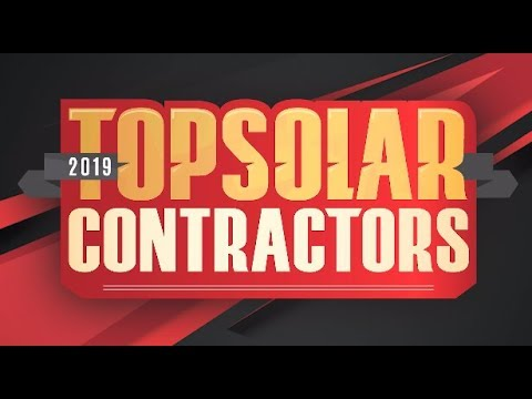 We want YOU to be a 2019 Top Solar Contractor