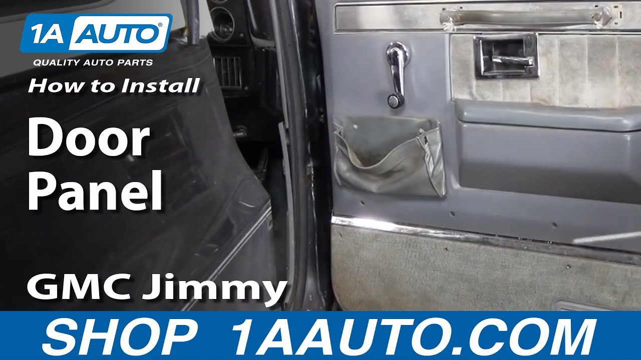 How to install replace remove door panel 73 87 chevy gmc - Installing a lock on a bedroom door ...