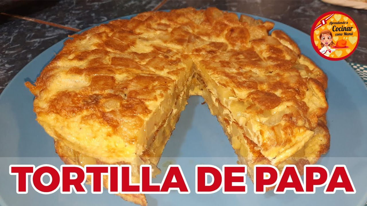 PRUEBA ESTA RICA RECETA | TORTILLA DE PAPA | APRENDIENDO A COCINAR COMO MAMÁ