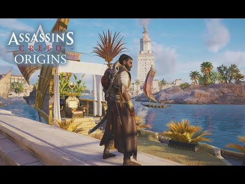 Assassin's Creed Origins - NEW CITY! Alexandria Gameplay Free Roam! First Arena! Legendary Armor!