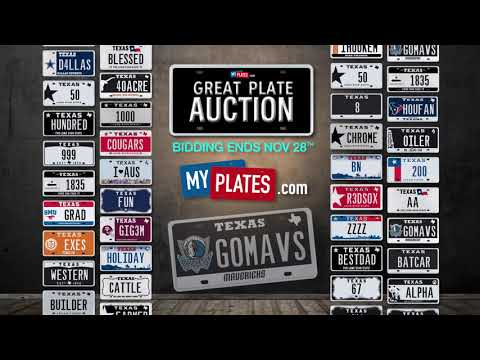 My Plates Great Plate Auction 2018 - GOMAVS