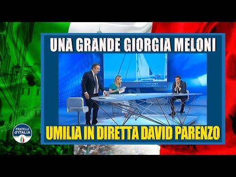 Una grande Giorgia Meloni umilia in diretta David Parenzo
