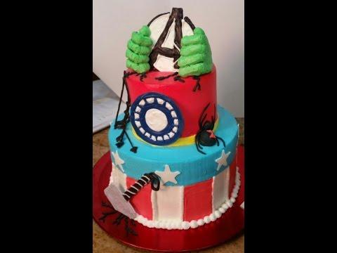 Avengers Cake In Buttercream Cake Decorating YouTube