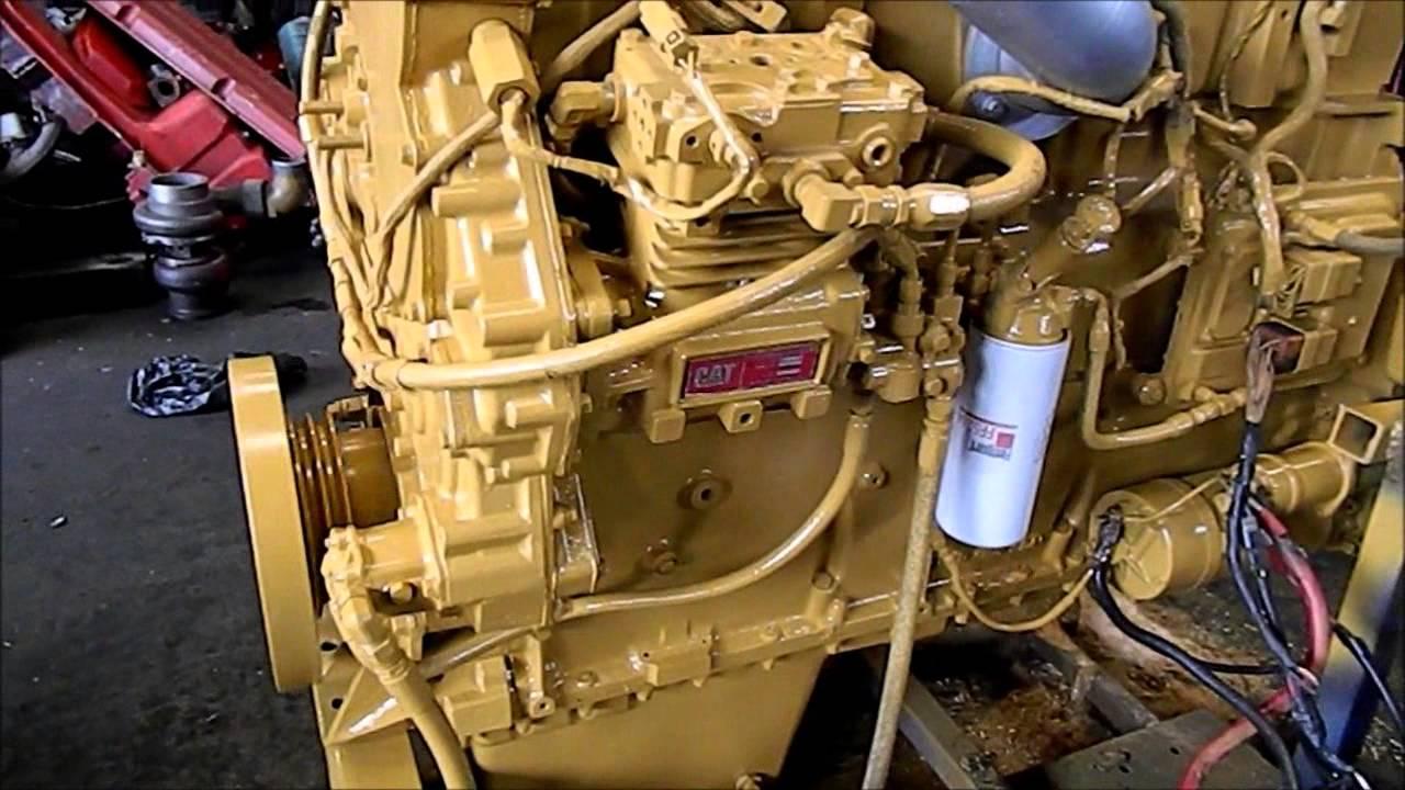 Motor Caterpillar 3406 E 455 HP  YouTube