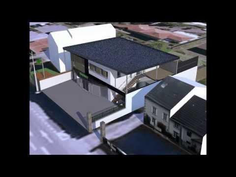 Concept 3D Logement + Commerce à Limoges: Sketchup & Kerkythea